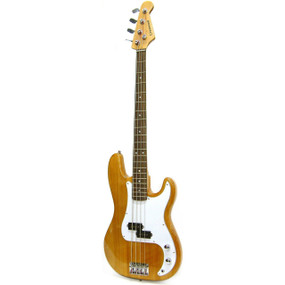 Crestwood PB970R 4-String Electric Bass Guitar, Natural