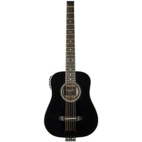 Traveler AG-200EQ Acoustic-Electric Travel Guitar, Black