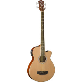 Washburn AB5K Acoustic-Electric Bass Guitar with GigBag, Natural Finish