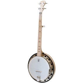 Deering Goodtime Two Left-Handed 5-String Resonator Banjo, Natural