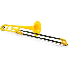 Jiggs pBone PBONE1Y Plastic Trombone, Yellow
