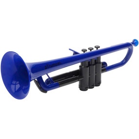 pBone PTRUMPET1B Plastic Bb Trumpet with Gig Bag, Blue