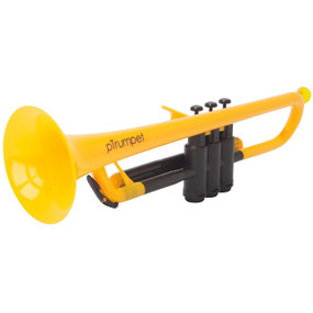 pBone PTRUMPET1Y Plastic Bb Trumpet with Carrying Bag, Yellow
