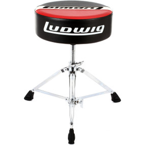 Ludwig LAP51TH Atlas Pro Series Round Drum Throne, Red/Black