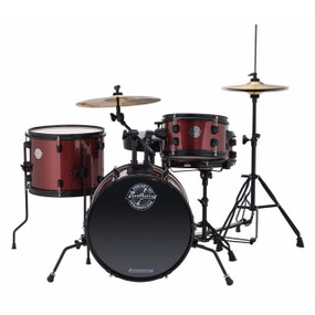 Ludwig LC178X025 Pocket Kit 4 Piece Drum Set by Questlove, Wine Red Sparkle Finish