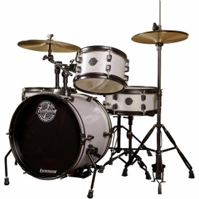 Ludwig LC178X029 Pocket Kit 4 Piece Drum Set by Questlove, White Sparkle Finish