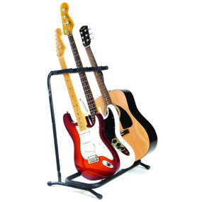 Fender 3-Space Folding Multi Guitar Stand, 099-1808-003