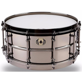 Ludwig LW6514 Black Magic 6.5 x 14 Inch Snare Drum, Black