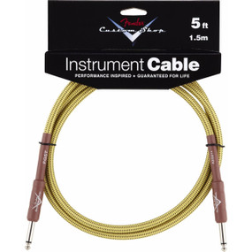 Fender FG5T Custom Shop Performance Series Straight 5' Tweed Instrument Cable, 099-0820-027