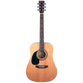 Johnson JG-624-N Player Series Left-Handed Acoustic Guitar, Natural