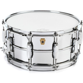 "Ludwig LM402 Supra-Phonic 6.5"" x 14"" Snare Drum w/ Imperial Lugs, Smooth Chrome Plated Aluminum"
