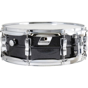"Ludwig LM404 Acrolite 5"" x 14"" Aluminum Snare Drum, Black Galaxy"