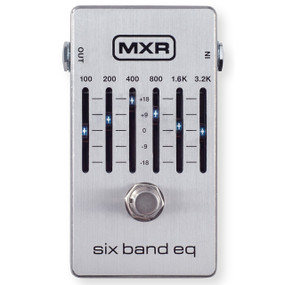 MXR M109S Six Band EQ Pedal - 6 Band Graphic Equalizer Guitar Pedal, Silver