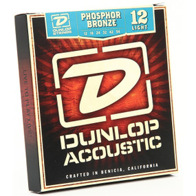 Dunlop DAP1254 Acoustic Guitar Strings - Light Gauge 12-54, Phosphor Bronze