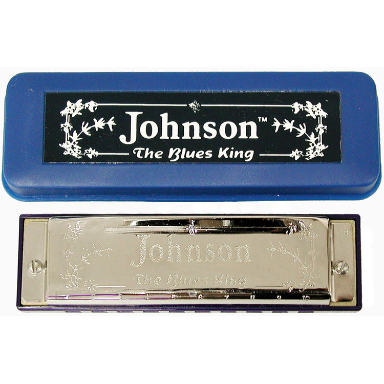 Johnson BK-520-B-FLAT Blues King Harmonica, Key of Bb - Single Harp with Case