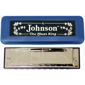 Johnson BK-520-C Blues King Harmonica, Key of C - Single Harp with Case