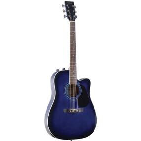 Johnson JG-650-TBL Thinbody Acoustic Electric Guitar, Blueburst