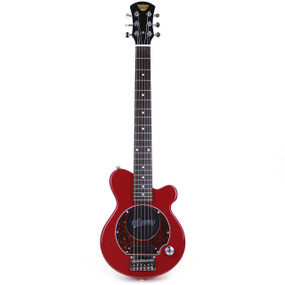 Pignose PGG-200 Mini Electric Travel Guitar with Built in Amp, Candy Apply Red (PGG-200RD)