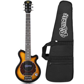 Pignose PGG-200 Mini Electric Travel Guitar with Built-In Amp and Deluxe Gig Bag, Sunburst (PGG-200SB-KIT)