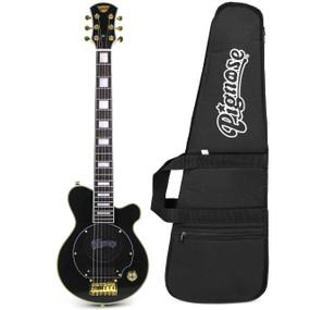 Pignose PGG-200 Deluxe Mini Electric Guitar w/ Built in Amp & GigBag, Black