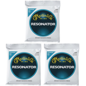 Martin M980 Nickel Wound Bluegrass Resonator Guitar Strings, Standard - 3 PACK