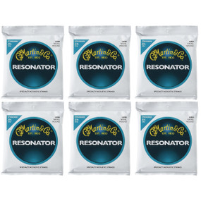 Martin M980 Nickel Wound Bluegrass Resonator Guitar Strings, Standard - 6 PACK
