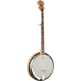 Oscar Schmidt OB5SP 5-String Resonator Banjo, Spalted Maple