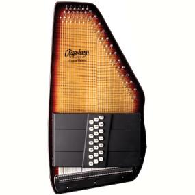 Oscar Schmidt OS150FCE Appalachian 21 Chord Electric Autoharp with Flame Maple Top, Sunburst