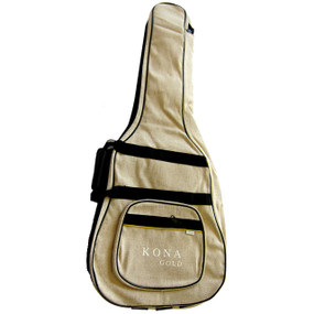 Kona KGGBDH Hemp Guitar GigBag -Padded Hemp Bag for Acoustic Dreadnought Guitars