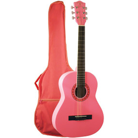Indiana FILLY 36-Inch Steel String Acoustic Guitar with Gig Bag, Pink