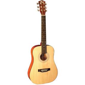 Indiana I-34-N Runt Series 34-Inch Mini Dreadnought Acoustic Guitar, Natural