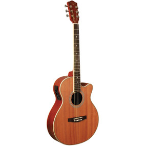 Indiana I-MOJA Mojave Herringbone Cutaway Acoustic Electric Guitar