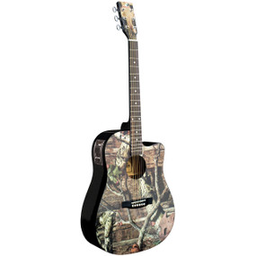 Indiana MO-1CE Mossy Oak Infinity Camo Acoustic Electric Guitar