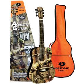 Indiana MO-34 Mossy Oak Infinity Camo 3/4 Size Acoustic Guitar w/ GigBag