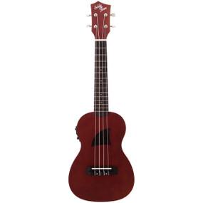 Eddy Finn EF-1-CE Basswood Concert Size Acoustic Electric Ukulele, Satin Mahogany