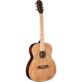 Oscar Schmidt OF2MFSM Spalted Maple Folk-Style Acoustic Guitar w/ Maple Fretboard