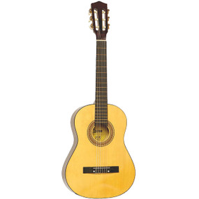"Lauren LA34N Nylon String 3/4 Size Classical Acoustic Guitar, Natural - 34"" Inch"