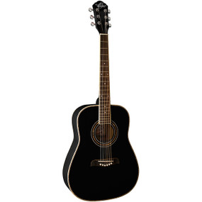 Oscar Schmidt OG1BLH Left-Handed 3/4 Size Dreadnought Acoustic Guitar, Black