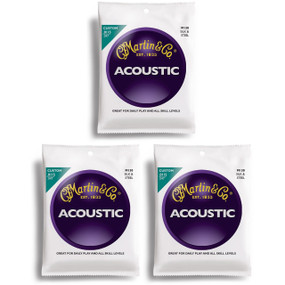 Martin M130 Silk & Steel Acoustic Folk Guitar Strings - 3 PACK
