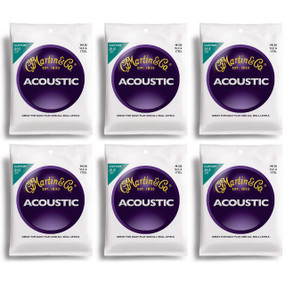 Martin M130 Silk & Steel Acoustic Folk Guitar Strings - 6 PACK