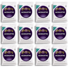 Martin M130 Silk & Steel Acoustic Folk Guitar Strings - 12 PACK