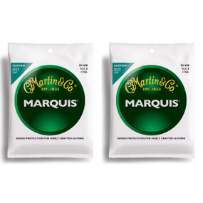 Martin M1400 Marquis Silk & Steel Acoustic Folk Guitar Strings - 2 PACK