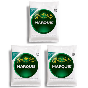 Martin M1400 Marquis Silk & Steel Acoustic Folk Guitar Strings - 3 PACK
