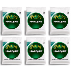 Martin M1400 Marquis Silk & Steel Acoustic Folk Guitar Strings - 6 PACK