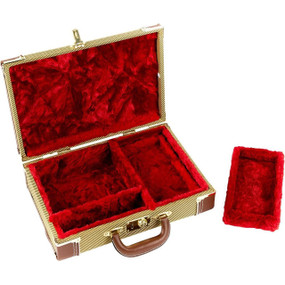 "Fender ""Mississippi Sax"" Tweed Harmonica Case - Red Plush Interior, 099-1013-000"