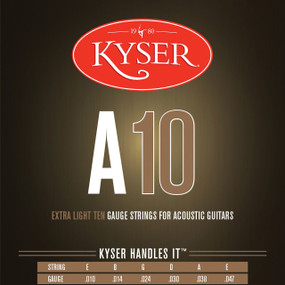 Keyser A10 92/8 Phosphor Bronze Extra Light Acoustic Guitar Strings, KA1