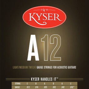 Kyser A12 92/8 Phosphor Bronze Light/Medium Acoustic Guitar Strings, KA3