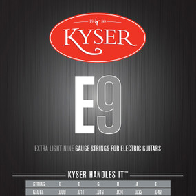 Kyser E9 Extra Light Electric Guitar Strings - Nickel Plated, KE1