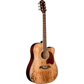 Oscar Schmidt OG2CESM Spalted Maple Acoustic Electric Guitar