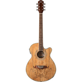 Oscar Schmidt OG10CESM Concert Cutaway Acoustic Electric Guitar, Spalted Maple